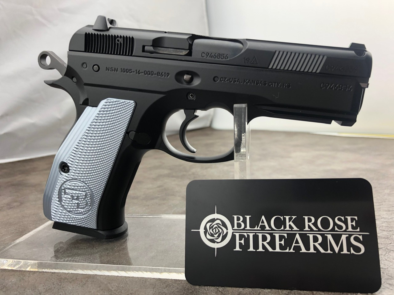 CZ 75 P01 9mm w/ Custom Shop Metallic Gray Grips