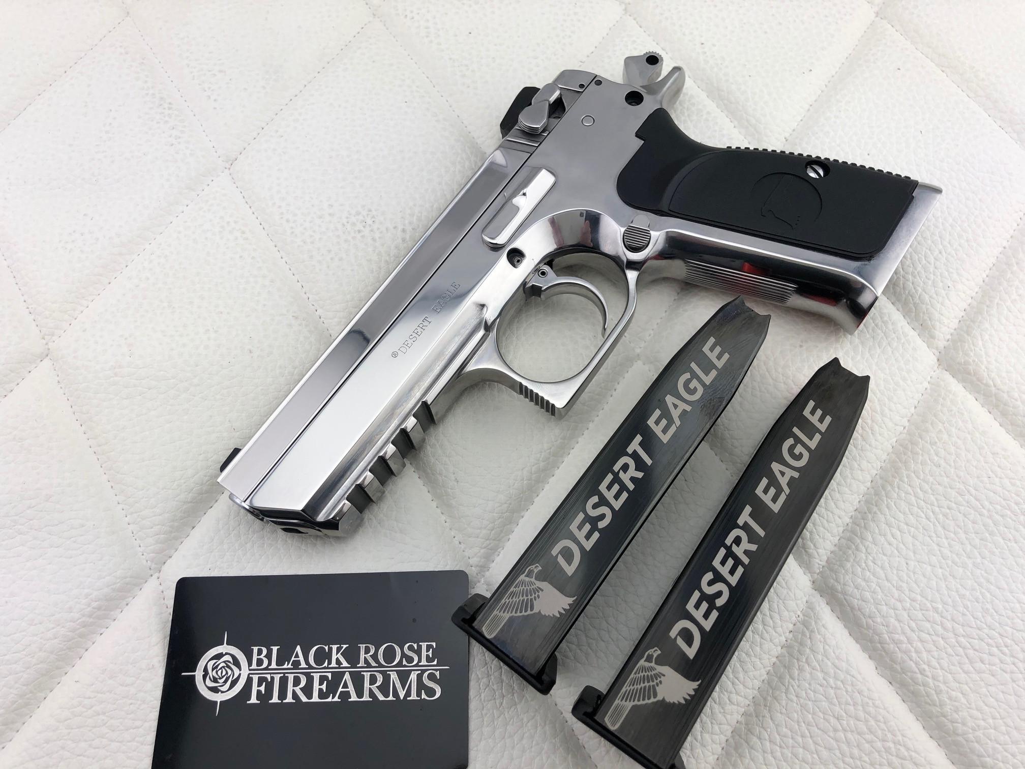 Black Rose Firearms Magnum Research Baby Desert Eagle Steel 9mm Custom Mirror Polish