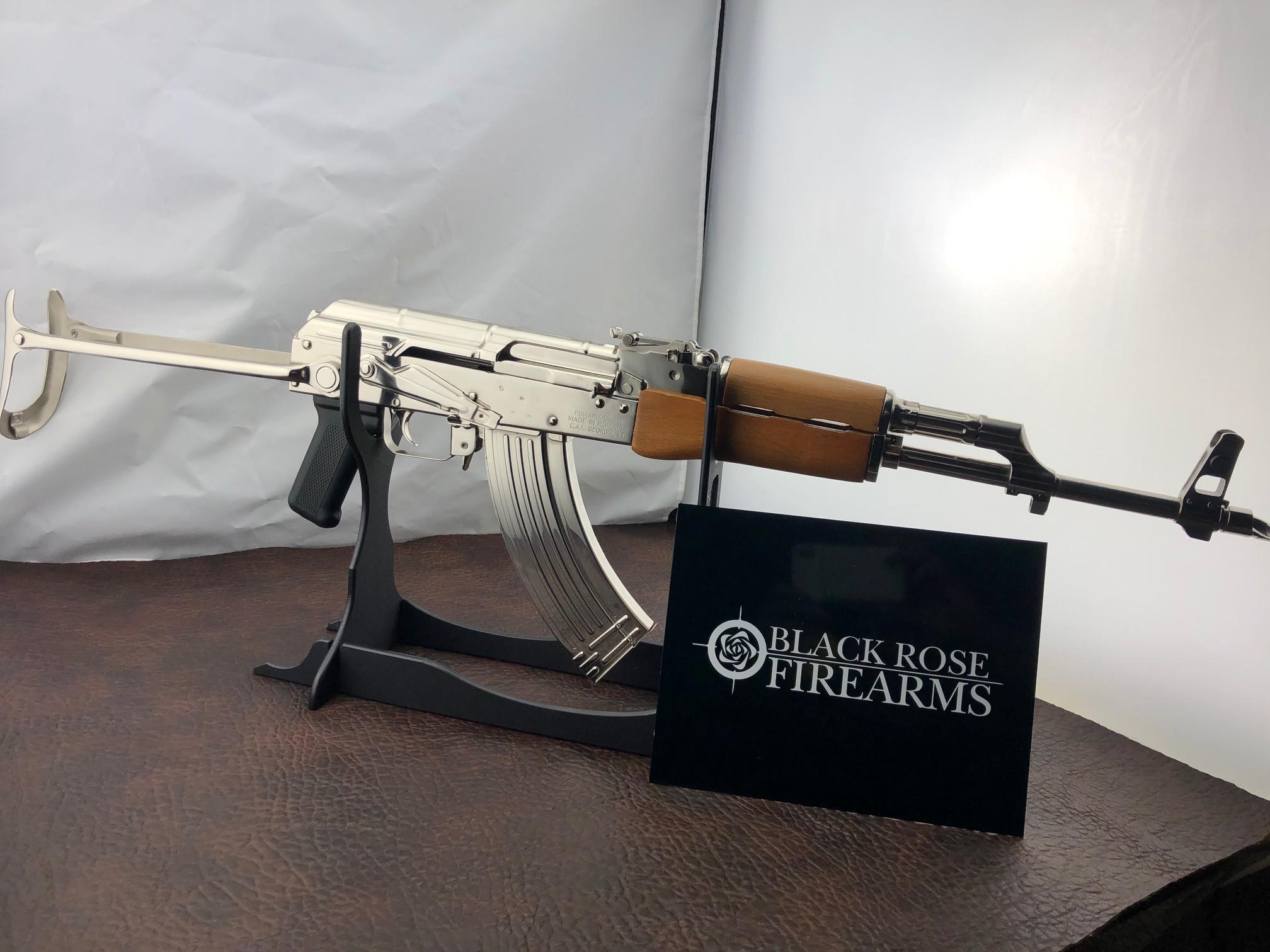 Century Arms Wasr10 Underfolder Nickel Plated 7 62x39 AK47